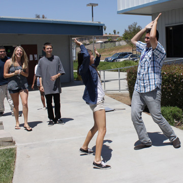 yearbook staff celebrates getting to know each other