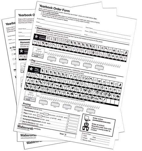 Create Order Forms » School Yearbooks   Walsworth
