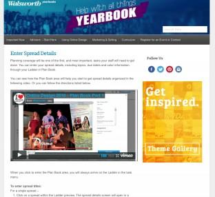 Yearbook Help screen shot