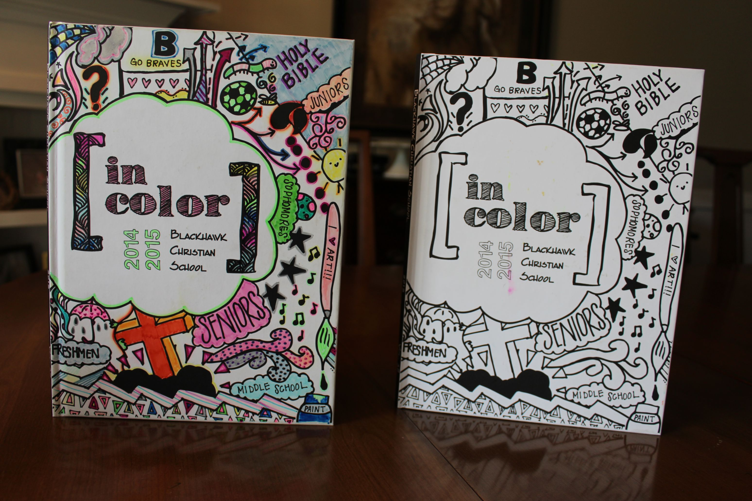 School Yearbook Cover Ideas : Let students color their yearbook cover walsworth