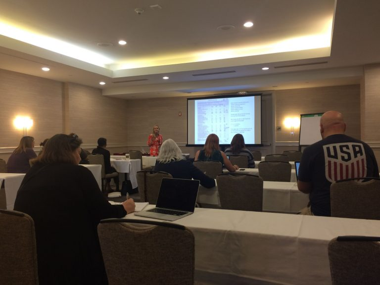 Renee Burke grading session Walsworth Adviser Academy
