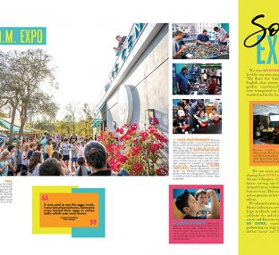 Yearbook spread from One School of the Arts