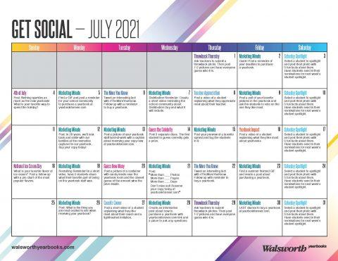 July 2021 Social Media Calendar